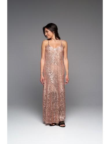 Φόρεμα μακρύ με παγιέτα