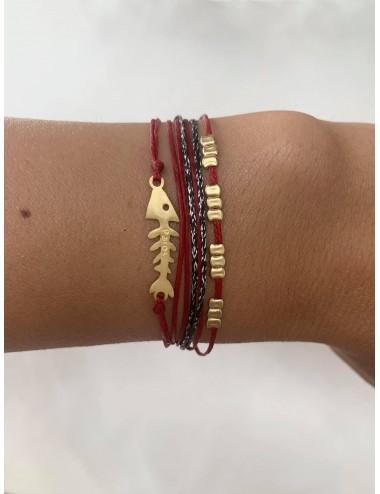 Fishbone bracelet with cords