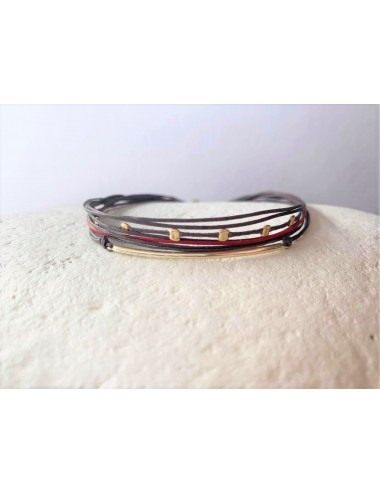 Bar bracelet with cords